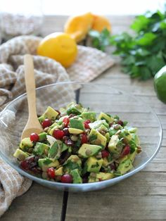 Avocado Lentil Cranberry Salad by runningtothekitchen #Salad #Avocado #Lentil #Healthy