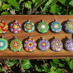 Mandala stones pendants.