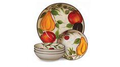 Cafe Naples 5-Piece Pasta Bowl Set, Multi-Color