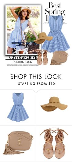 """""""Casual blue dress"""" by hedija-okanovic ❤ liked on Polyvore featuring Été Swim, Yves Saint Laurent and H&M"""