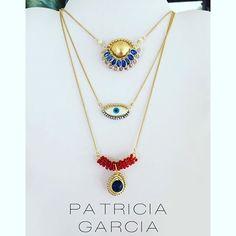 PG Cadenitas con cristales, oro hindú y jade #patriciagarciaaccesorios #chapadeoro #handmadejewerly #diseñomexicano #necklace #cadenitas #collares #mexicocreativo #fashion #xmas #hechoamano #joyeriaartesanal #ojitos Rose Gold Jewelry, Crystal Jewelry, Wire Jewelry, Boho Jewelry, Beaded Jewelry, Evil Eye Necklace, Gold Necklace, Hamsa, Layered Jewelry