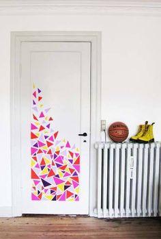 Diy Bedroom Door Decorations - 37 Diy Washi Tape Decorating Projects You Will Love Bedroom Door Creative Bedroom Door Decoration Ideas For Girls How To Decorate 28 Decorating Tricks. Bedroom Door Decorations, Dorm Decorations, Diy Room Decor, Art Decor, Painted Bedroom Doors, Painted Doors, Porte Diy, Dorm Room Doors, Cool Doors