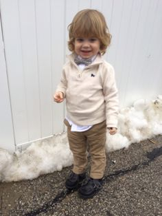 Cute toddler boy outfit.