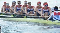 The men's eight rowing to bronze (BBC)