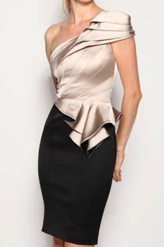 Inclined shoulder dress(2colors)_Dresses(d)_DESIGNER_Voguec Shop