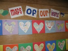 writing ideas - cut construction paper to journal size, cut heart smaller, glue in writing journal