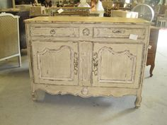 Painted,antique Country French,two Door Buffet For Sale | Antiques .