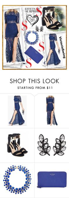 """""""VICTORIA SWING #21"""" by nizaba-haskic ❤ liked on Polyvore featuring Kenneth Jay Lane and Kate Spade"""