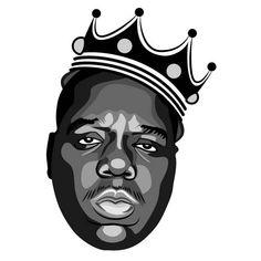 Notorious B.I.G. vector portrait.