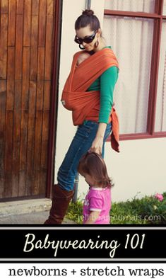 Babywearing 101: What's it like carrying a newborn in a wrap? #babywearing   JellibeanJournals.com