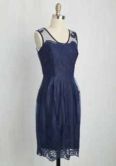 Outstanding on Ceremony Dress in Navy   Mod Retro Vintage Dresses   ModCloth.com