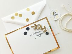 A luxe card set...
