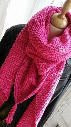 Crochet : comment réaliser un grand chèche (ou châle) au crochet ?