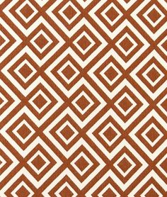 Robert Allen @ Home Switchback Coral Fabric - $23.95 | onlinefabricstore.net