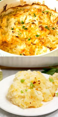 """This delicious Potato Casserole is """"What's for dinner"""" and it's delicious! day dinner for a crowd Potato Casserole Potato Side Dishes, Vegetable Side Dishes, Vegetable Recipes, Vegetarian Recipes, Cooking Recipes, Healthy Recipes, Healthy Food, Vegetable Salad, Potato Casserole"""