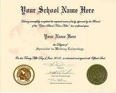 Looking for High School Diploma Template With Seal? Then you are at the right place. Here are some awesome High School Diploma Template With Seals. Free High School Diploma, College Diploma, University Diploma, Going To University, Pace University, Certificate Of Completion Template, Certificate Design, Certificate Templates, School Certificate