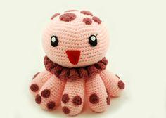 Méduse (jellyfish) kawaii (cute) amigurumi patron français gratuit (free pattern)