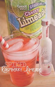 Take a cherry limeade and add a bit of flavor with raspberry vodka! It's the sweet drink your holiday party is looking for!