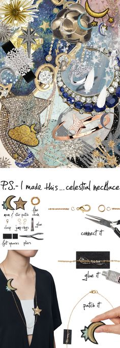 P.S.- I made this...Celestial Necklace #PSIMADETHIS #DIY #INSPIRATION #COLLAGE