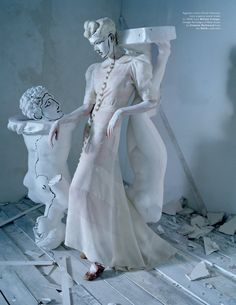 """Agyness Deyn in """"Spooky"""" for Love Magazine, Spring/Summer, 2015. Photography: Tim Walker. Styling: Katie Grand"""