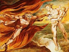 The Good and Evil Angels - William Blake