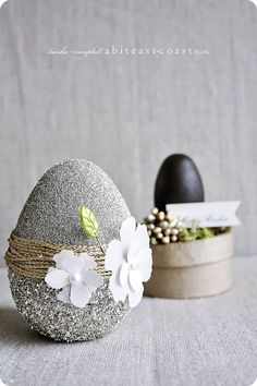 glittery chic Easter eggs.