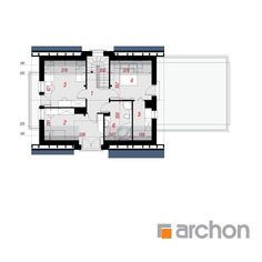 Dom w amarylisach 3 House Plans, Floor Plans, How To Plan, Two Story Houses, Home Plans, Architect House, House Floor Plans, Floor Plan Drawing