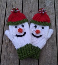 Here& a great craft idea: crochet snowman! Here& a great craft idea: crochet snowman! Here& a great craft idea: crochet snowman! Crochet Mitts, Crochet Gloves Pattern, Mittens Pattern, Knit Mittens, Ravelry Crochet, Baby Mittens, Baby Knitting Patterns, Crochet Patterns, Crochet Winter