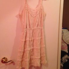 White lace dress Beautiful white laced dress! Arden B Dresses