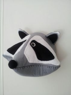 ROCKY RACCOON Faux Taxidermy Fabric Wall by GillsPopArtEmporium, £50.00