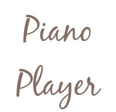 Player Quotes, Piano Player, Quote Creator, Music Is Life, Place Card Holders, Words, Horse
