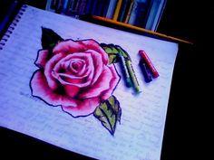 rosa feita com Giz pastel oleoso fundo da folha : letra da musica I Never Dreamed - Black Label Society Black Label Society, Amazing Drawings, Chalk Pastels, Graffiti, Paisajes, Animals, Ideas