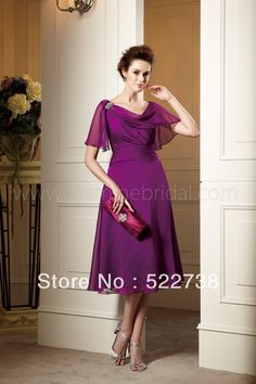mother of the bride purple dress | mother of the bride dresses knee length 2013 mother of the bride dress ...