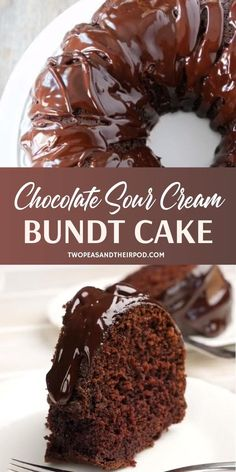 Chocolate Sour Cream Bundt Cake The best dessert recipe perfect you must try this Mother's Day! Chocolate Sour Cream Bundt Cake is easy to make, with Amazing Chocolate Cake Recipe, Best Chocolate Cake, Homemade Chocolate, Chocolate Recipes, Sour Cream Chocolate Cake, Chocolate Cake Recipe Videos, Chocolate Fudge, Chocolate Overload Cake Recipe, Chocolate Cake With Pudding