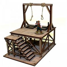 Dead Man's Hand - Old West Buildings Hangman's Gallows (Pre-Painted) (MINT/New). Manufacturer: This kit is rated skill level Hangman's Gallows (Pre-Painted) MINT/New. Forte Apache, Tabletop, Train Miniature, End Terrace House, Model Supplies, Game Terrain, American Legend, Gallows, Trap Door