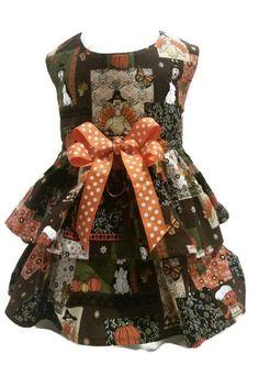 Thanksgiving Dog Dress Custom Harness Dress by GeorgiaGirlQuilting