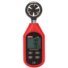 UNI-T UT363 Digital Tester di Velocità Del Vento Mini Anemometro 0 a 30 m/s di Controllo del Flusso D'aria C/F Meter Temperatura