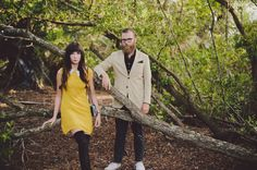 dress for engagement photos in woods - Google Search