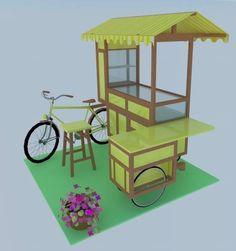 Projeto e execução da bike food tendência para pequenos espaços. Orçamento através do e-mail pieginart@yahoo.com.br ...