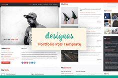 designas - Portfolio PSD Template - Websites