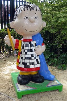 "Santa Rosa, California - Peanuts on Parade 2008 - ""Crossword Linus"" - fiberglass Linus Van Pelt statues, 5 feet high"