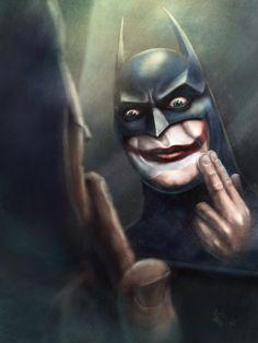 Bat-Joker in Procreate  #trasnik #batman #joker # procreate #ipad #digitalart #art