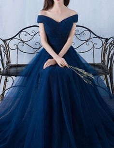 Generous Off the Shoulder Short Sleeves Sweep Train Navy Blue Prom Dress with Pleats