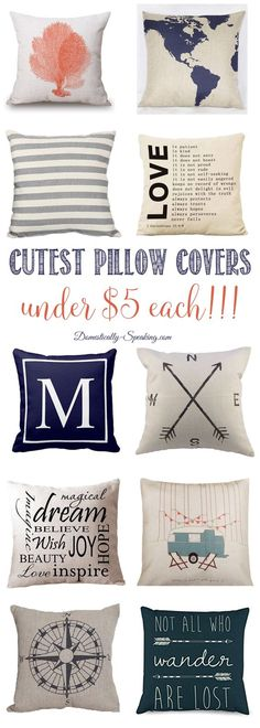 Cutest Pillow Covers that are under $5   Easy pillow update