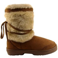 Womens Short Faux Fur Lined Thick Sole Winter Snow Boots -- More info could be found at the image url.
