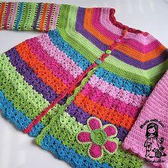 Crochet Girls Coat Free Patterns
