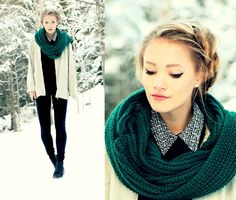 Pattern collar (by Petra Karlsson) http://lookbook.nu/look/4437237-pattern-collar