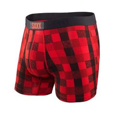 SAXX Vibe Boxer Men's Underwear Red Lumberjack Plaid -  - Koala Logic