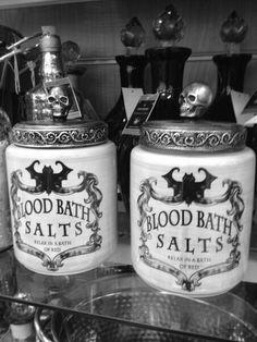 Pinterest: @MagicAndCats ☾ Blood Bath Salts