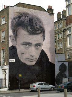 James Dean - Street Art | urban art  | grafite | mural | graffiti | Street art…